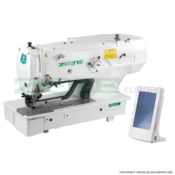 Electronic buttonhole machine with clamp for buttonholes up to 120 mm length - complete sewing machine