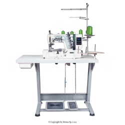 3-needle, 5-thread Interlock for binding, for light and medium sewing - complete sewing machine